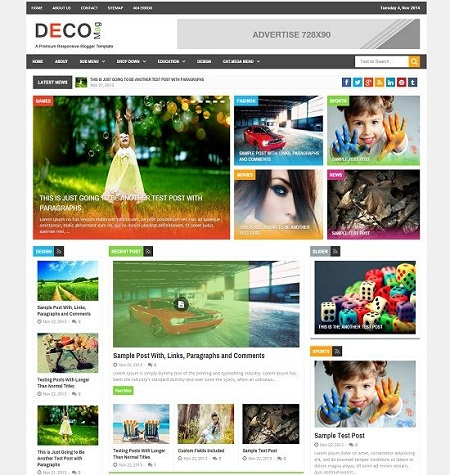 Template Blogspot - Deco Mag Magazine - Responsive