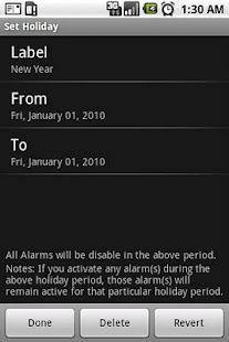 Holiday Alarm Disabler - screenshot thumbnail