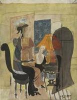 Georges Braque - Femme à la mandoline - 1936