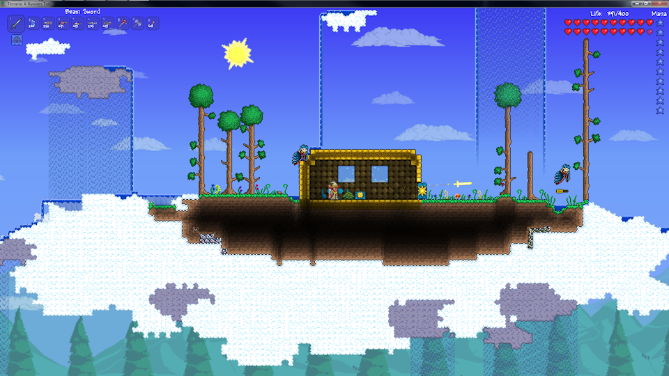 how to make a beam sword in terraria
