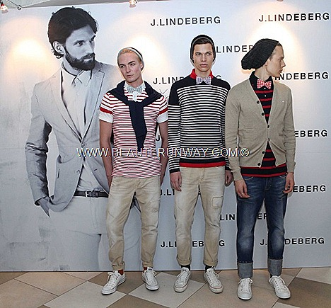 J.LINDEBERG Spring Summer 2012 Menswear nautical navys beige sweater shirt pants demin jeans t-shirts shoes leather canvas belt