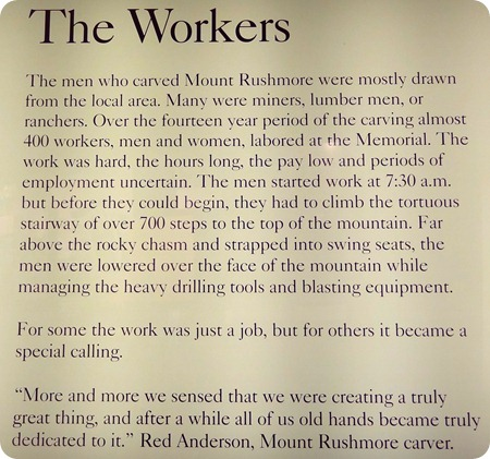 the workers on mt rushmore