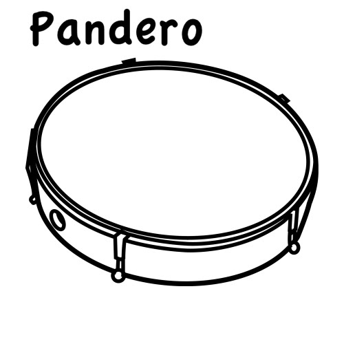 Pandero Para Colorear Imagui