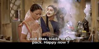 Chhoti wearing a facepack