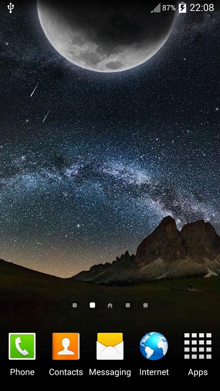 Star Night Live Wallpaper - screenshot