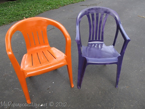 paint ugly chair with spray paint