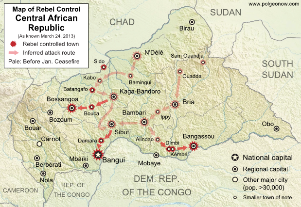 Central African Republic Conflict Map Central African Republic
