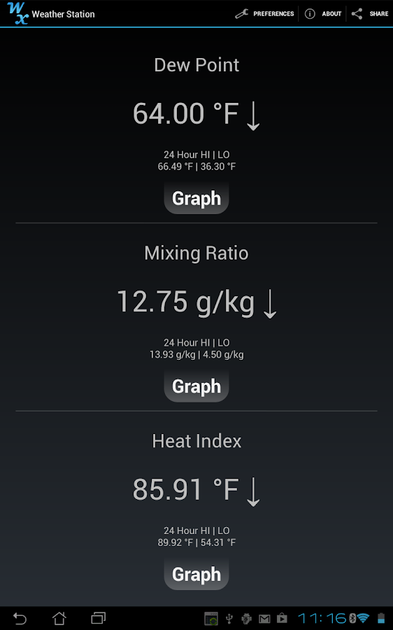 Weather Station- screenshot