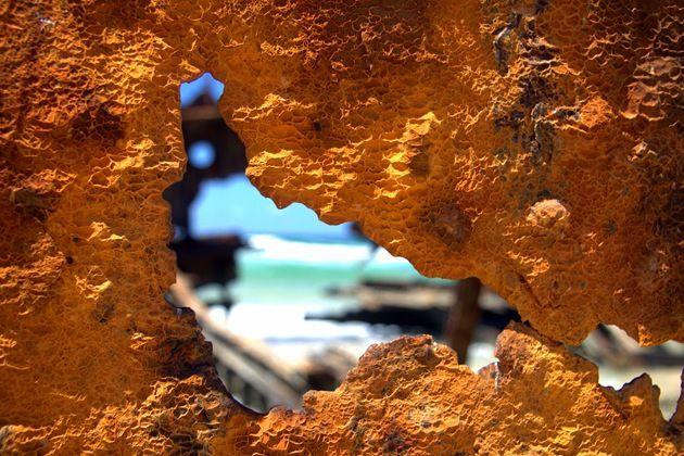 Rusted Metal Fraser Island Shipwreck