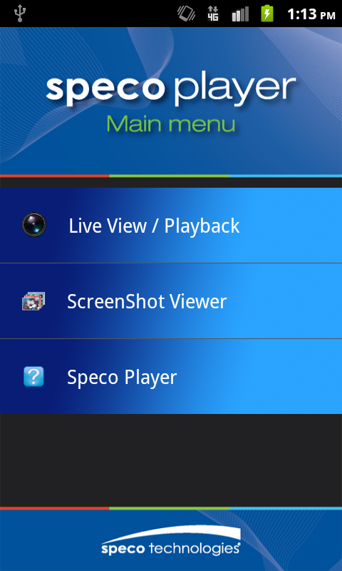 Speco Player- screenshot