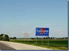 3989 Indiana - Lincoln Highway (US-30) - Welcome to Indiana sign