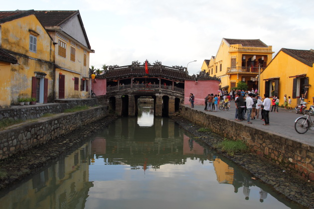 The famous covered Japanese Bridge of Hoi An's Old Quarter