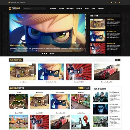 Template Blogspot - TubeMag Video - Responsive