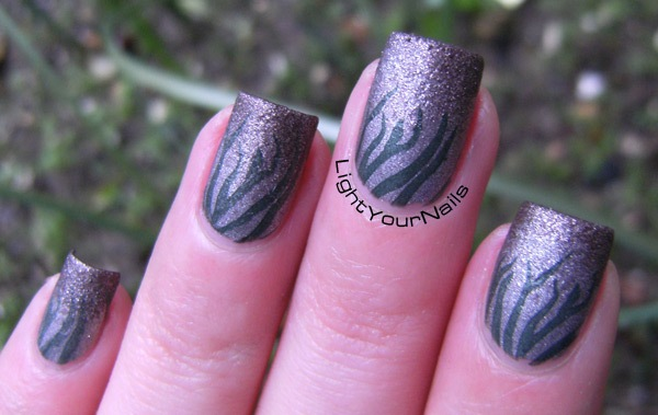 winter garden gradient and stamping