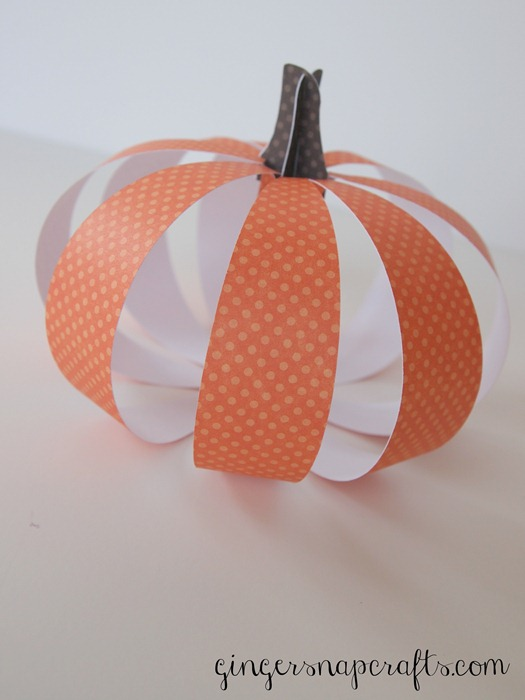 paper pumpkin with a Silhouette Cameo