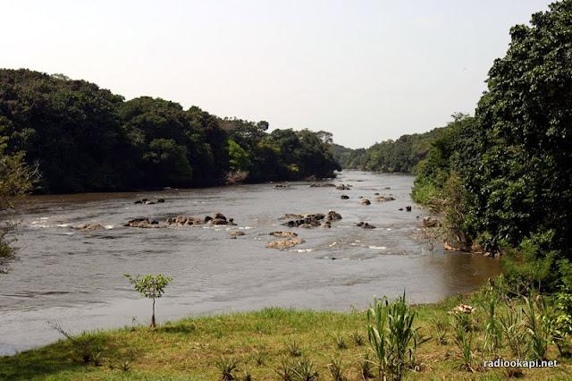La rivière Epulu dans la réserve de faune à Okapi, en Ituri 2005.