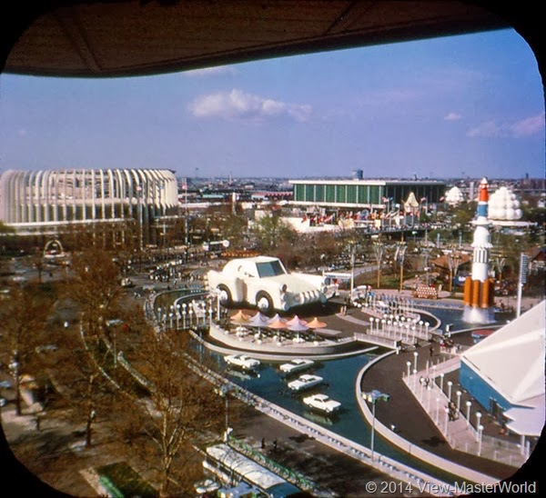 View-Master New York World's Fair 1964-1965 (A671),Scene 6: Chrysler Islands and the Ford Rotunda