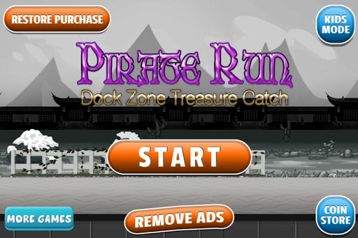 Pirate run Dock treasure catch