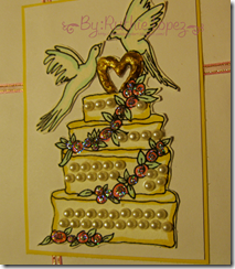 Lauretta's Digital Stamps - Wedding cake - CRAFT Challenges - GDT - Ruthie Lopez 2
