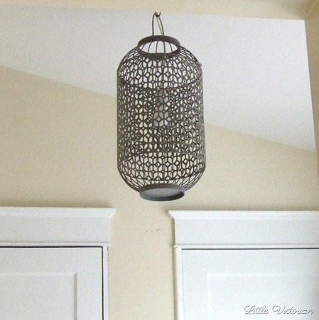 DIY Bird cage light fixture