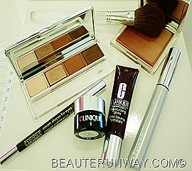Clinique New Black Honey Fall 2011 Collection Colour Surge Eye Shadow Quad, Gradient Powder Blusher Superbalm Moisturising Gloss  Black Honey