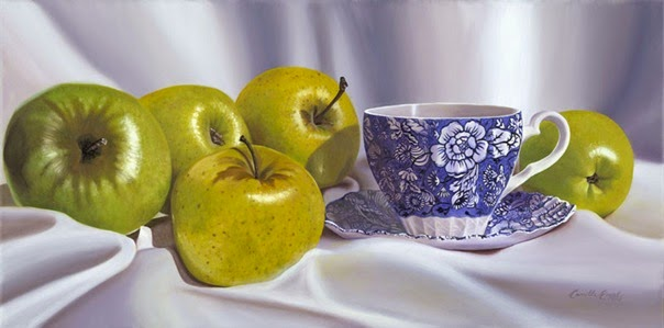 042-Green-Apples-China-Tea-Cup-Realism-Artist