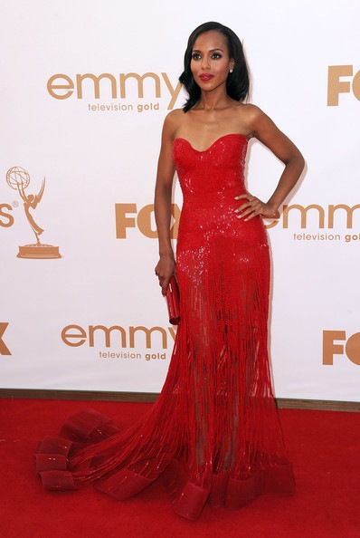 Kerry Washington arrives at the 63rd Annual Primetime Emmy Awards