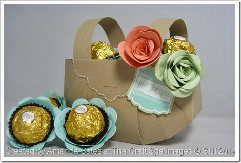 Mothers Day Basket_Ferrero Rocher_Spiral Flower_Tag Punch_2014_03_ Amanda Bates_The Craft Spa