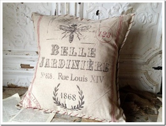 Belle Jardinere Linen Pillow