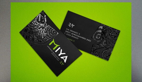 black freaky business cards