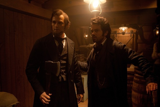 Benjamin Walker and Dominic Cooper in Abraham Lincoln Vampire Hunter