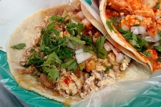 Machaca con Huevo Taco at Tacos Aaron