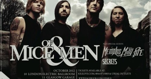 Of mice and men tour dates