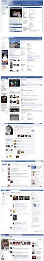 cambios de interfaz de facebook a través del tiempo
