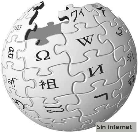 Wikipedia sin internet