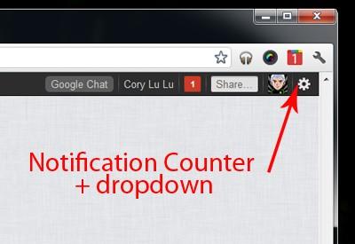 Notificaciones de Google Plus en Chrome