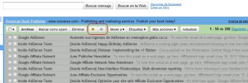 gmail mas y menos