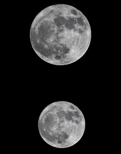 Luna desde america