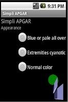 Screenshot of Simpli APGAR