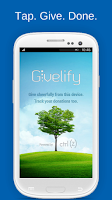 Screenshot of Givelify Mobile Giving App