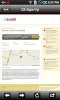 Screenshot of Central Carolina Hospital