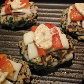 Turkey Burgers With Roasted Peppers And Spinach