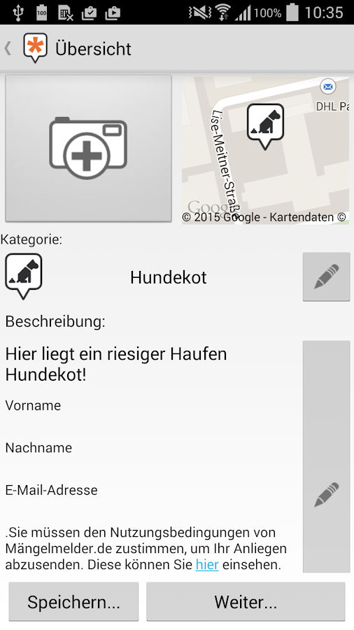 Mängelmelder- screenshot