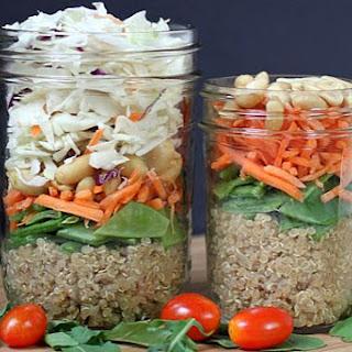 Asian Quinoa Salad-In-A-Jar.