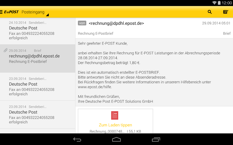 Persönliche Vertrauliche Briefe : E post briefe empfangen android apps on google play