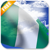 3D Nigeria Flag Live Wallpaper