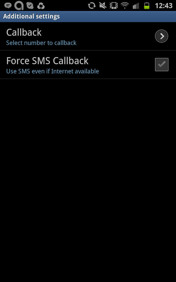 NotVOIP - International calls - screenshot