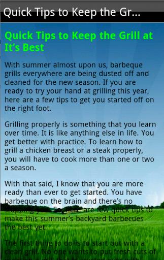 免費生活App|Summertime Grill Tips|阿達玩APP