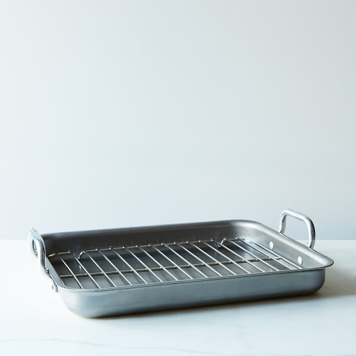 Low-Edged Iron Roasting Pan