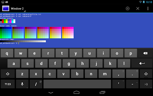 Terminal Emulator for Android Screenshot